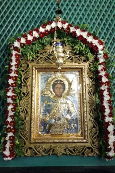 """Чудотворната икона на Свети Георги Победоносец в храм """"Св. Атанасий"""""""