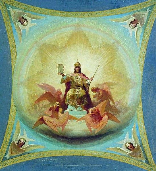 Христос възкачен като Небесен Цар